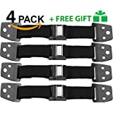 TV Straps Safety & Anti-Tip Furniture Straps – Set of 4 Straps – All Metal Parts – Heavy Duty Anchors – Includes Baby Safety Locks – Easy Child Proof Anchor Furniture Straps - 1st Quakehold Straps
