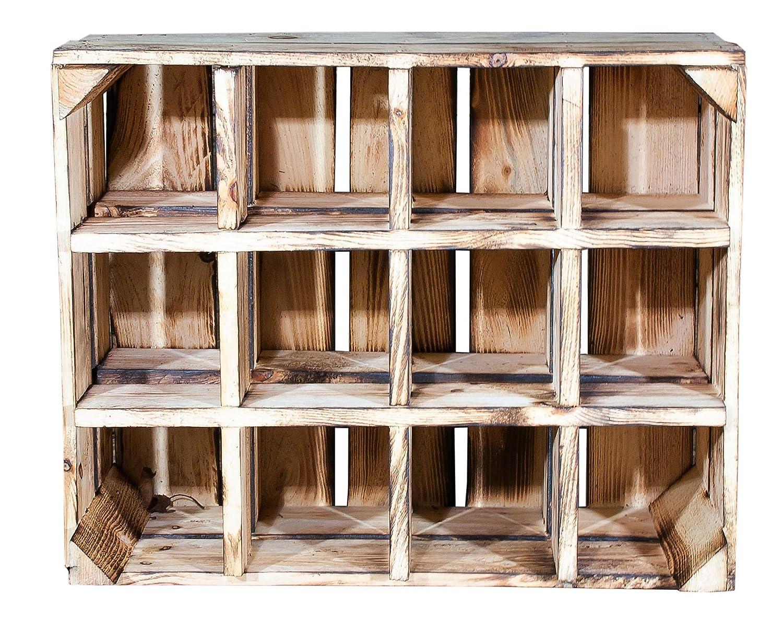 Shelf Accessories Home Garden Store Vintage Mobel 24 Gmbh New Flame Box For Bottle Rack 50x40x23 Cm