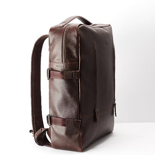 Amazon Com Capra Leather Laptop Backpack For Men Dark Brown Travel