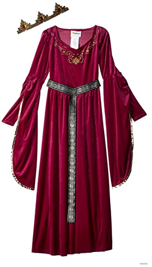 California Costumes Medieval Princess Queen, Royalty, Renaissance Girls Costume, XL 12-14