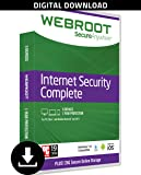 Webroot Internet Security Complete + Antivirus 2018 | PC | 5 Device | 1 Year Subscription