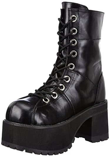 Demonia RANGER-301 Damen Stiefel, Schwarz (Blk Vegan Leather), EU 39 (UK 6) (US 9)