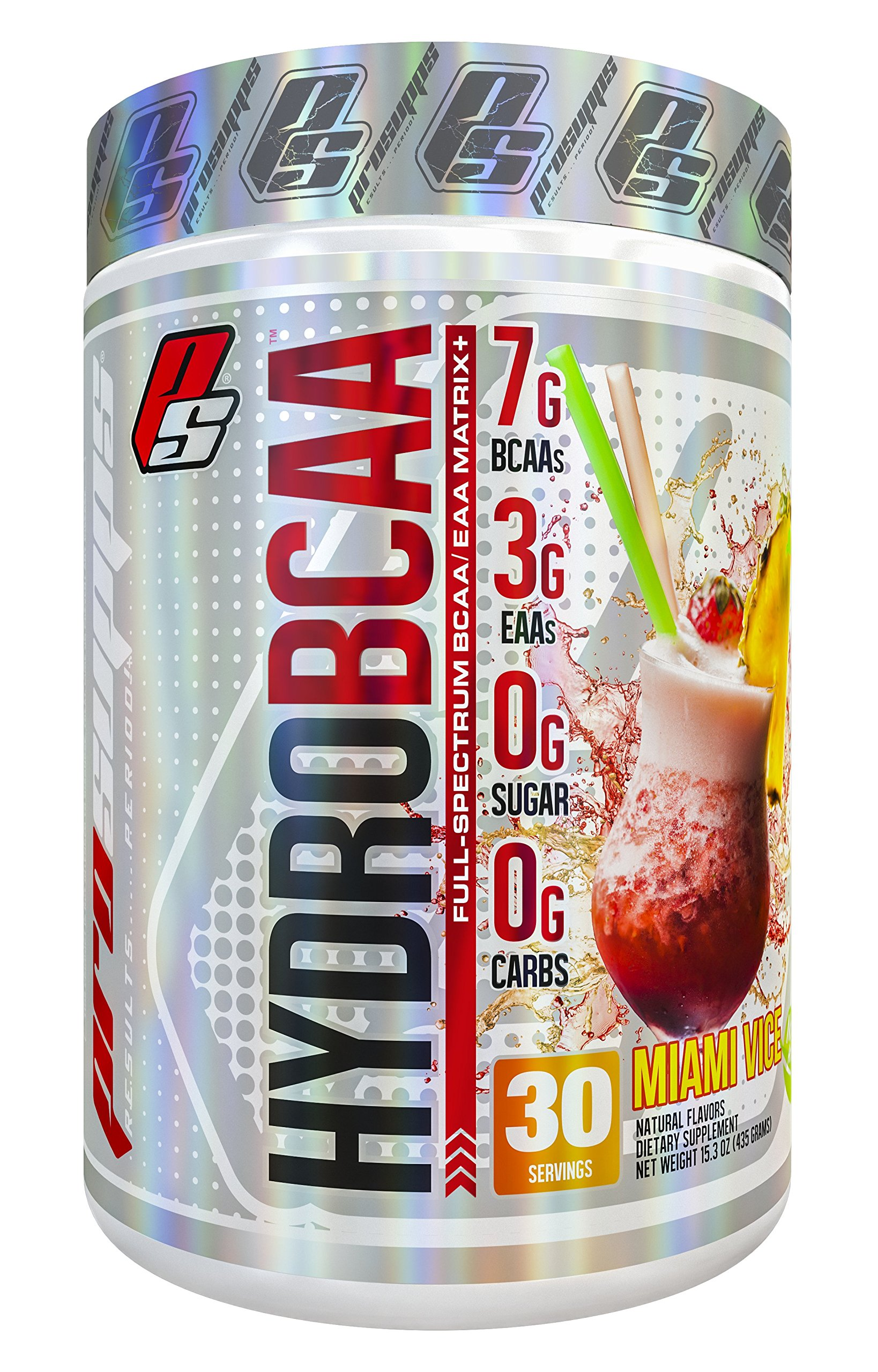 HydroBCAA BCAA/EAA Full Spectrum Matrix, 7g BCAAs, 3g EAAs, 0g Sugar, 0g Ccarbs, 30 servings, 15.3 oz. (Miami Vice Flavor)