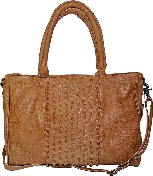 f5f688b493524 Day and Mood Lily Satchel Leather Handbag Bag Camel: Amazon.ca ...