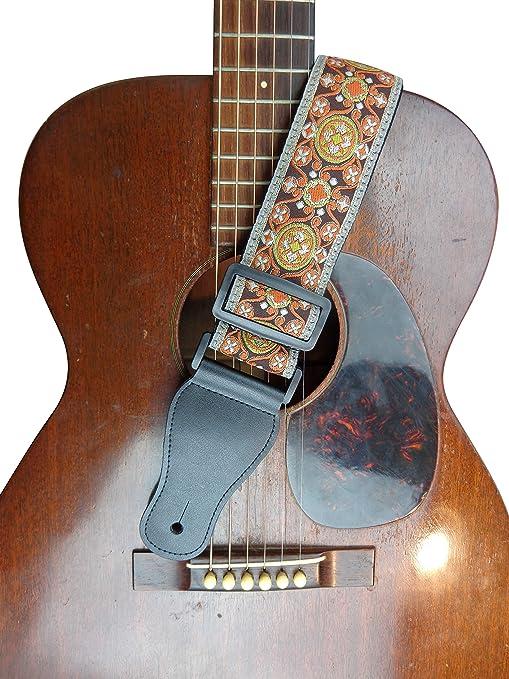 Correa para guitarra eléctrica acústica, estilo retro, color ...