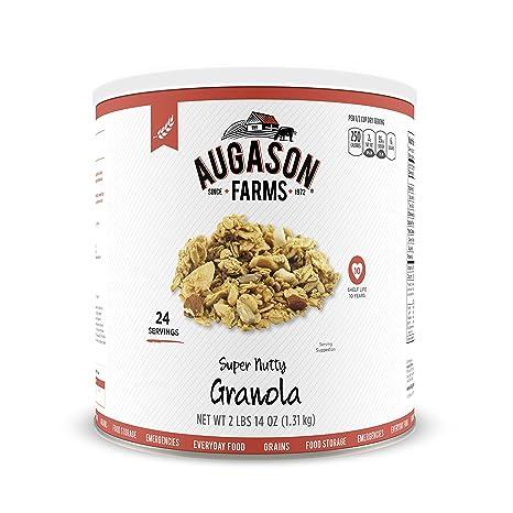Amazon.com: Augason Farms Super Nutty Granola 2 lbs 14 oz No. 10 Can ...