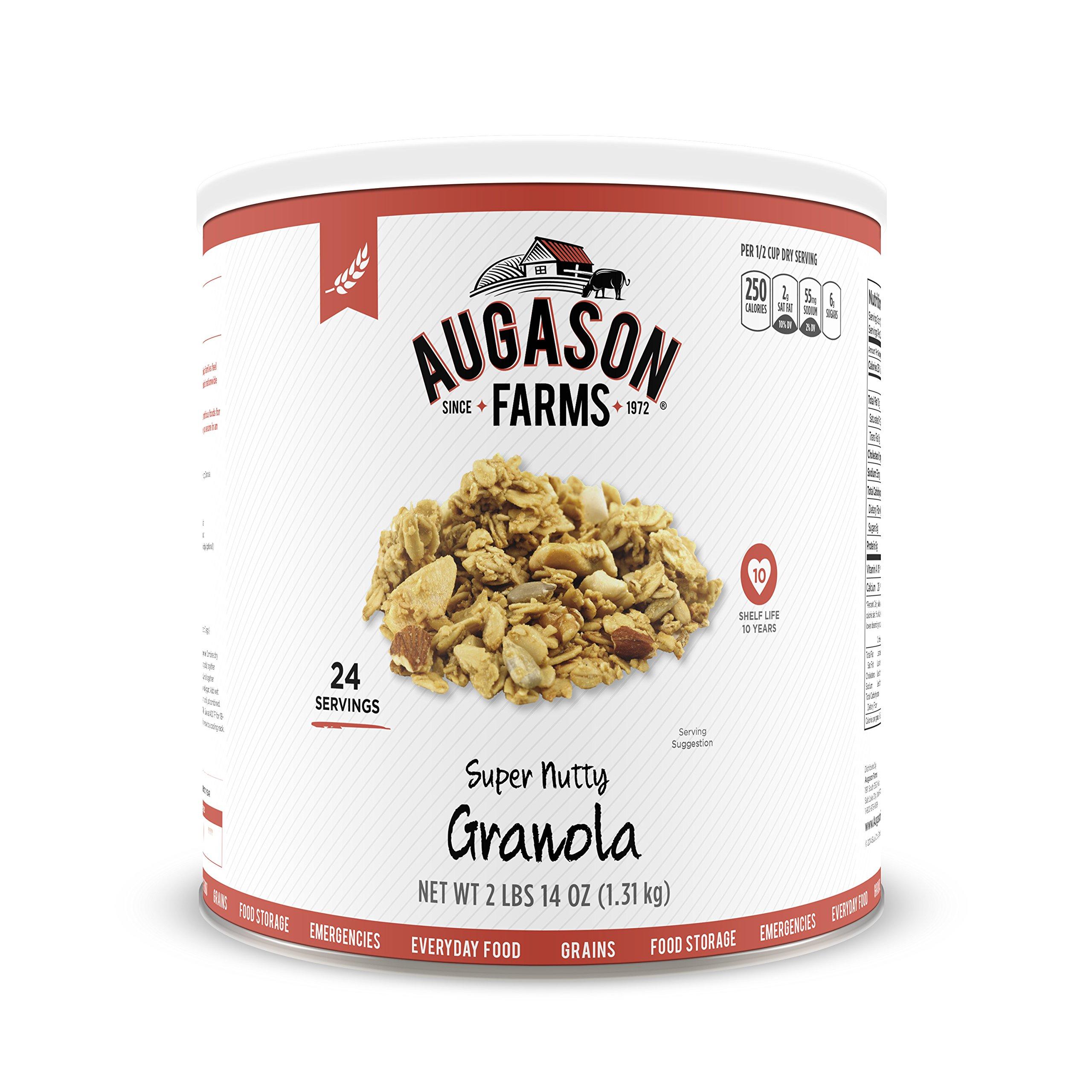 Augason Farms Super Nutty Granola 2 lbs 14 oz No. 10 Can