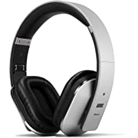 August Over Ear Bluetooth Wireless Headphones - August EP650 - Enjoy Bass Rich Sound and Optimum Comfort from this Wireless Over Ear Headset with NFC and aptX - [Silver]