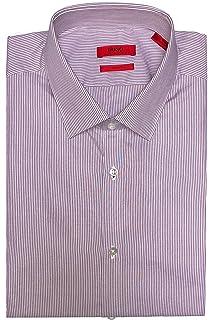 Hugo Boss C-Madel Slim Fit Fine Stripe Long Sleeve Cotton Dress Shirt
