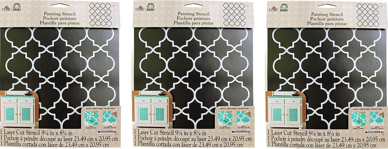 Amazon.com: FolkArt Handmade Charlotte Laser Stencils, 4377 Moroccan ...