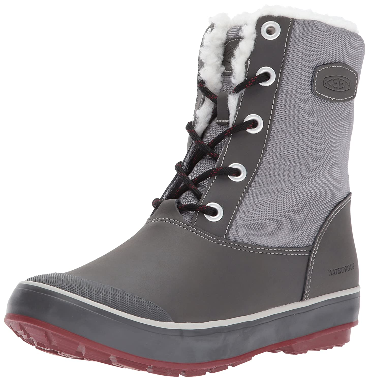 KEEN Women's Elsa Waterproof Winter Boot B01MSNCZZH 8 B(M) US|Gargoyle/Magnet