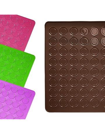 Lumaland alfombrilla molde base de silicona para galletas Macarrons 30 x 40 cm resistente antideslizante en
