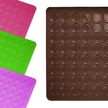Lumaland alfombrilla molde base de silicona para galletas Macarrons 30 x 40 cm resistente antideslizante en el horno hasta 230 ° C marrón: Amazon.es: Hogar