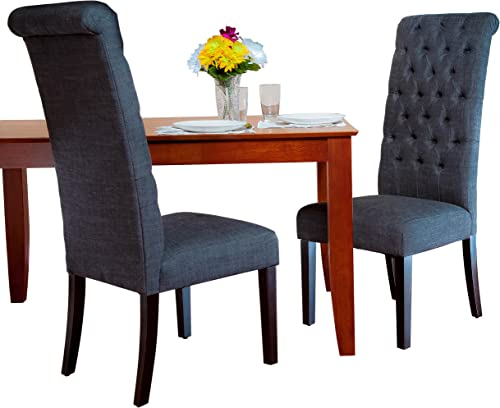 Best Selling Grey Tall Tufted Dining Chair