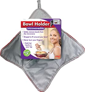 Jokari Bowl Holder, Microwave Safe & Heat Resistant Pad Keeps Hands Cool While Holding Warm Heated Containers, Reusable and Washable, Never Burn Your Fingers Again (2 Pack)