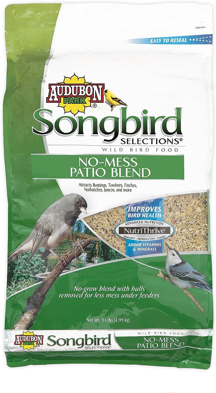 Songbird Selections 11986 No-Mess Patio Blend Wild Bird Food, 11-Pound