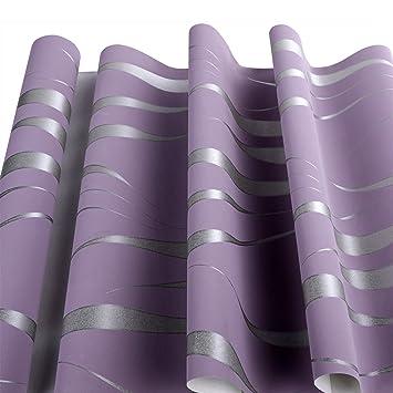 Homdox Tapete Vliestapete Einfache Moderne Tapeten Wandtapete Für  Wohnzimmer, Schlafzimmer Und TV Hintergrund (Lila