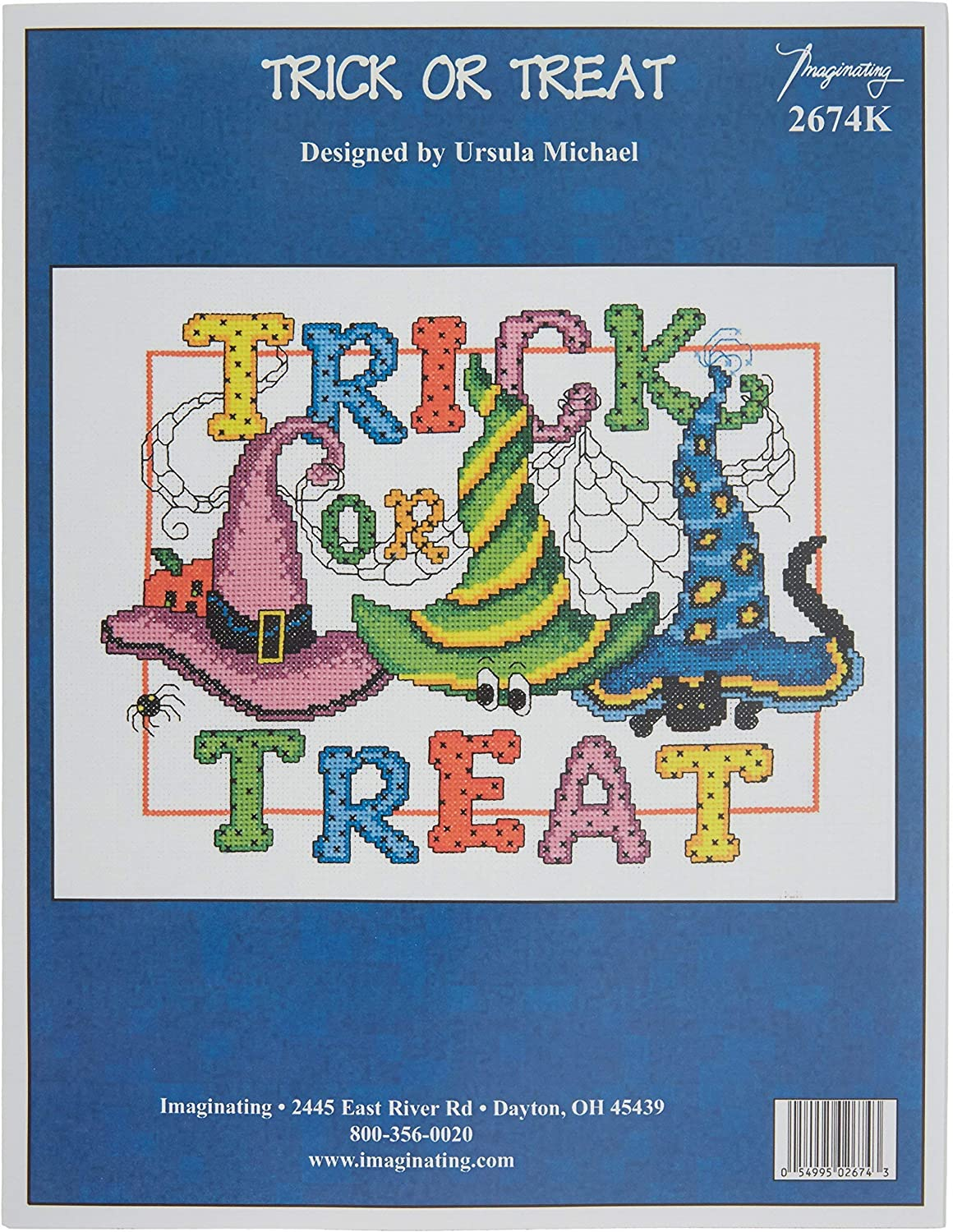 M /& R Technologies Trick Or Treat Counted Cross Stitch Kit