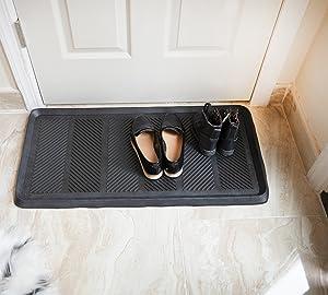 "Ottomanson RDM9900-16X32 Rubber Doormat, 16"" x 32"" Rectangle"