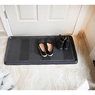 Ottomanson RDM9900-16X32 Rubber Doormat, 16  x 32  Rectangle