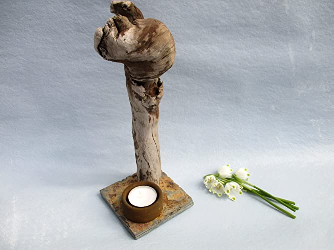 Treibholz Deko teelicht halter treibholz keramik skulptur keramik figur mit