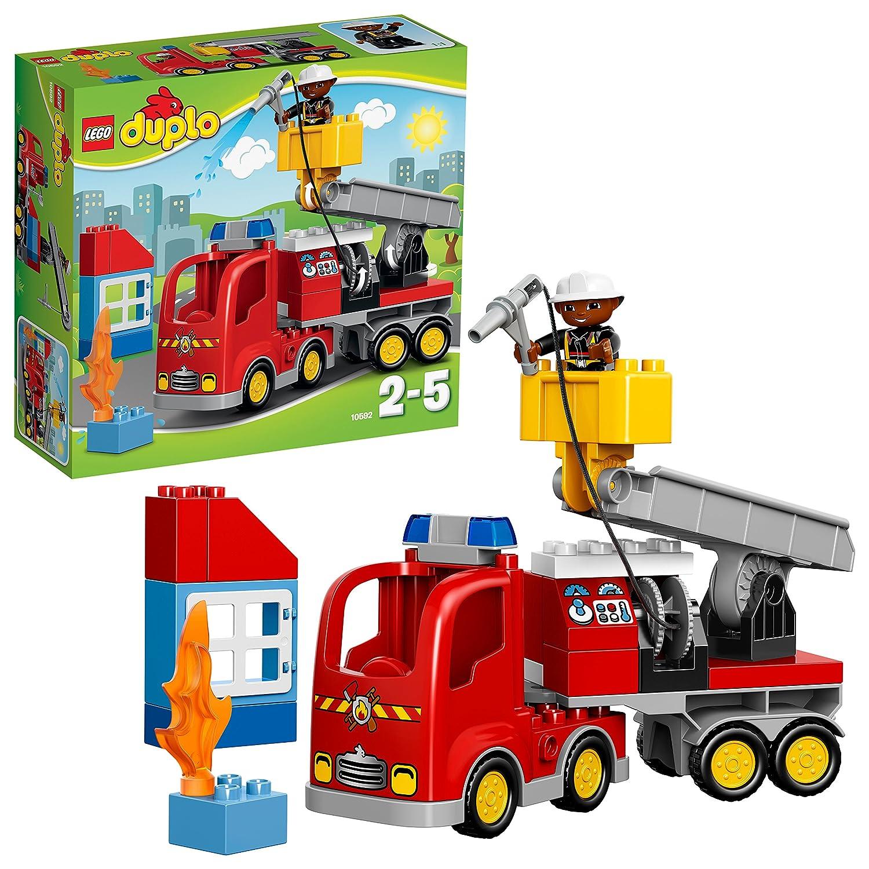 LEGO Duplo 10592 - Löschfahrzeug, Spielzeug für drei Jährige Kinder No Name Alltagszenen und Menschen