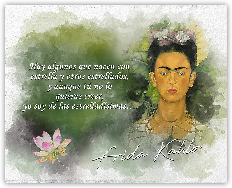 Hay Algunos Que Nacen Con Estrella Y Otros Estrellados Frida Kahlo Inspirational Quote - 8 x 10 Unframed Print - Great Gift For Art History Teachers, Artists and Nature Lovers - Wall Art