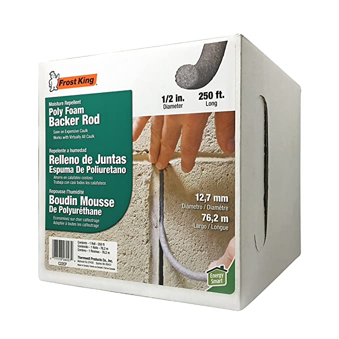 Amazon.com: Frost King C22CP Caulk Saver Bulk Contractor Pack, 1/2 inch Diameter x 250 Long,,, Grey: Home Improvement