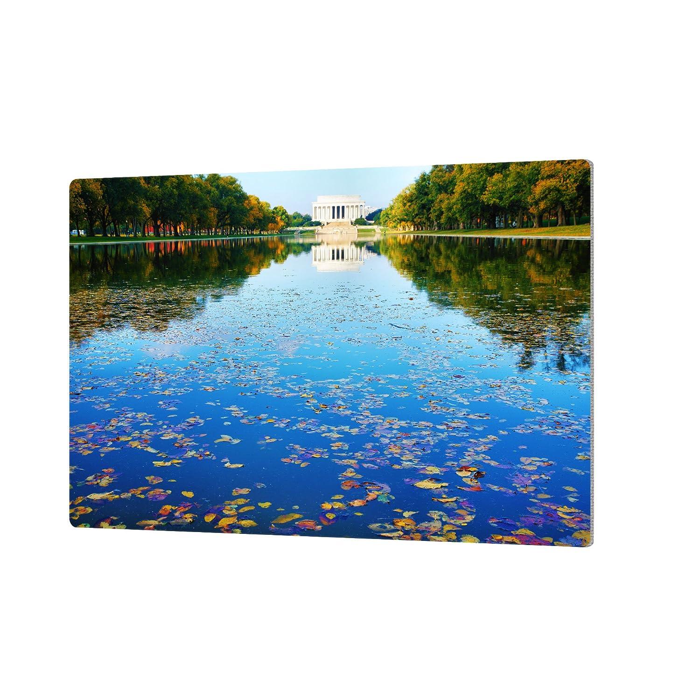 ArtWall Steve Ainsworths Lincoln Memorial and Reflecting Pool I Artmetalz Aluminum Print 24 x 36