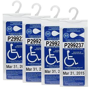 Amazon.com: Handicap Parking Placard Holder Cover by LotFancy ...