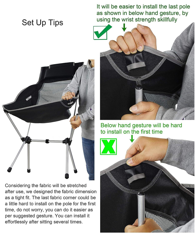 Amazon.com: Marchway - Silla de camping plegable y ligera ...