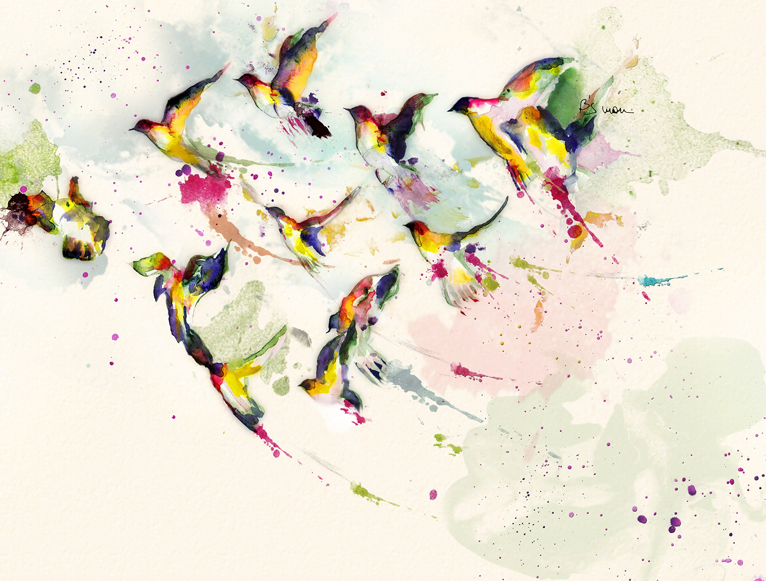 Freedom Birds (Limited Edition on Fine Art Paper - 15x12 in)