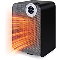 Best Choice Products SKY5218 1500W Compact Oscillating Space Heater w/Fan (Black)