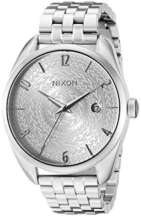 Image Unavailable. Image not available for. Color  Nixon Women s A4182129  Bullet Analog Display Japanese Quartz Silver Watch 1f7d470c3