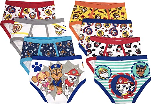 Pack of 7 4T PAW PATROL Handcraft Little Boys Toddler Brief Assorted