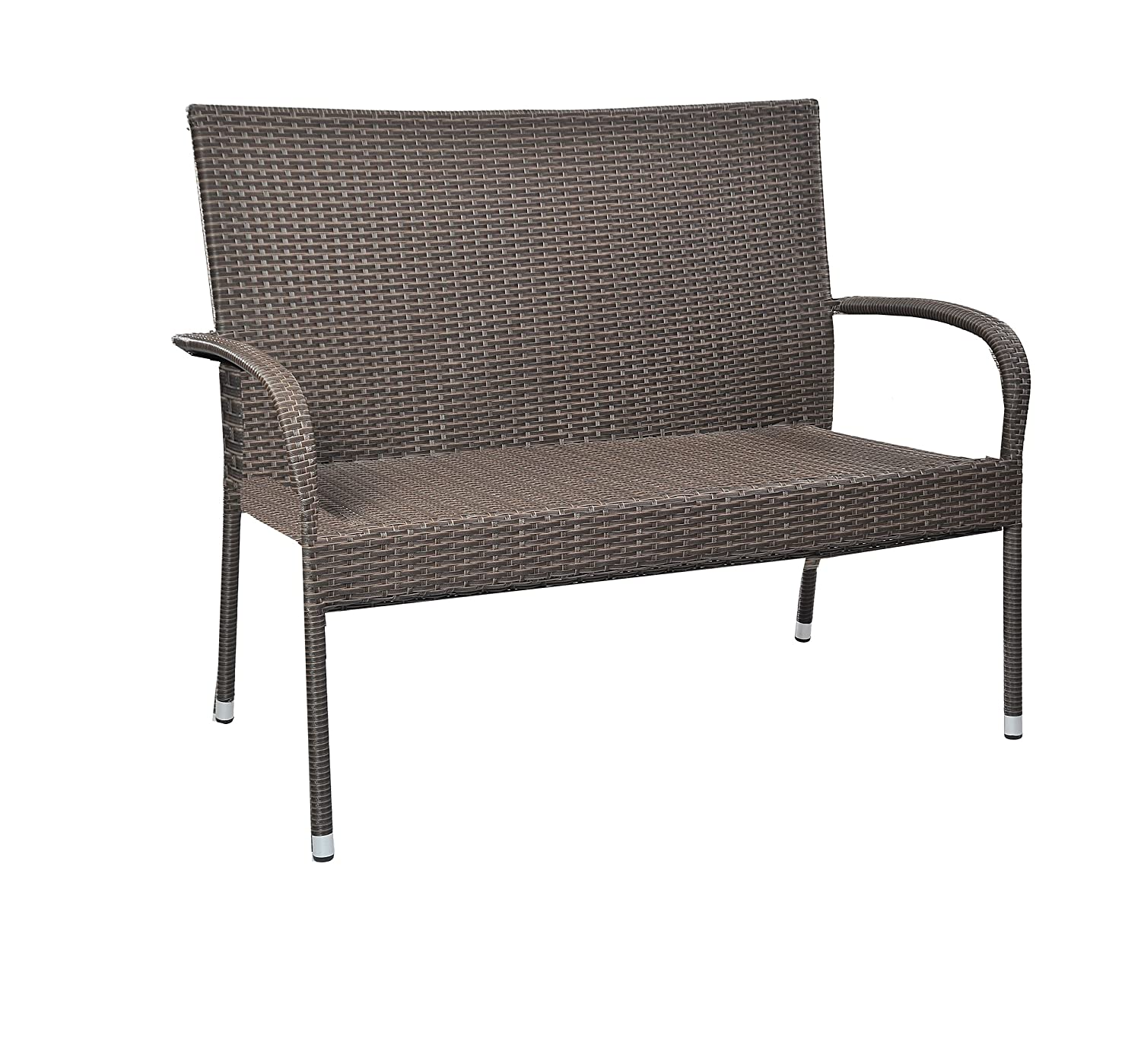 Patioflare PF-BB218MO Resin Wicker Bench