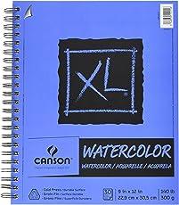 "Canson XL acuarela Pad, Plegable, 0, 12""X18"", 1"