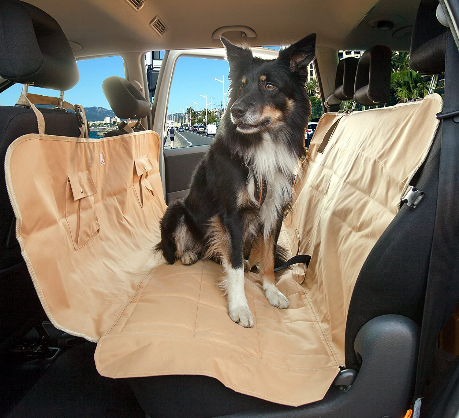 amazon     car hammock for dogs   pet seat cover   premium nonslip leather and upholstery dog car seat   waterproof dog barrier   pet supplies amazon     car hammock for dogs   pet seat cover   premium      rh   amazon