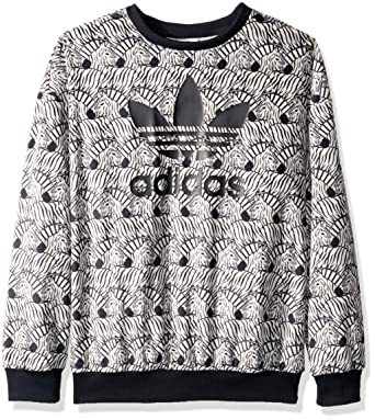 d9e84c7bd3769 Amazon.com  adidas Originals Girls  Zebra Print Crew  Clothing