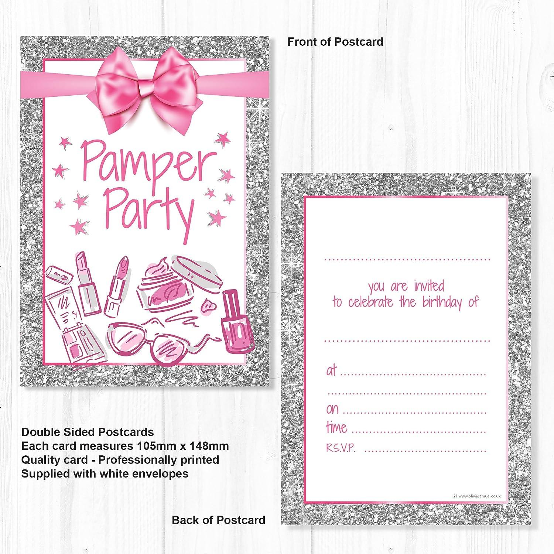 Olivia Samuel Pamper Party Invitations - Girl/Teen Birthday Invites ...
