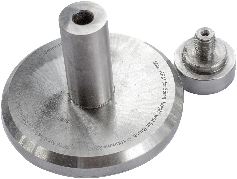 Brush Research ADHSMP Nampower Standard Collet Medium Plain Abrasive Disc Holder, 25mm Shank Diameter