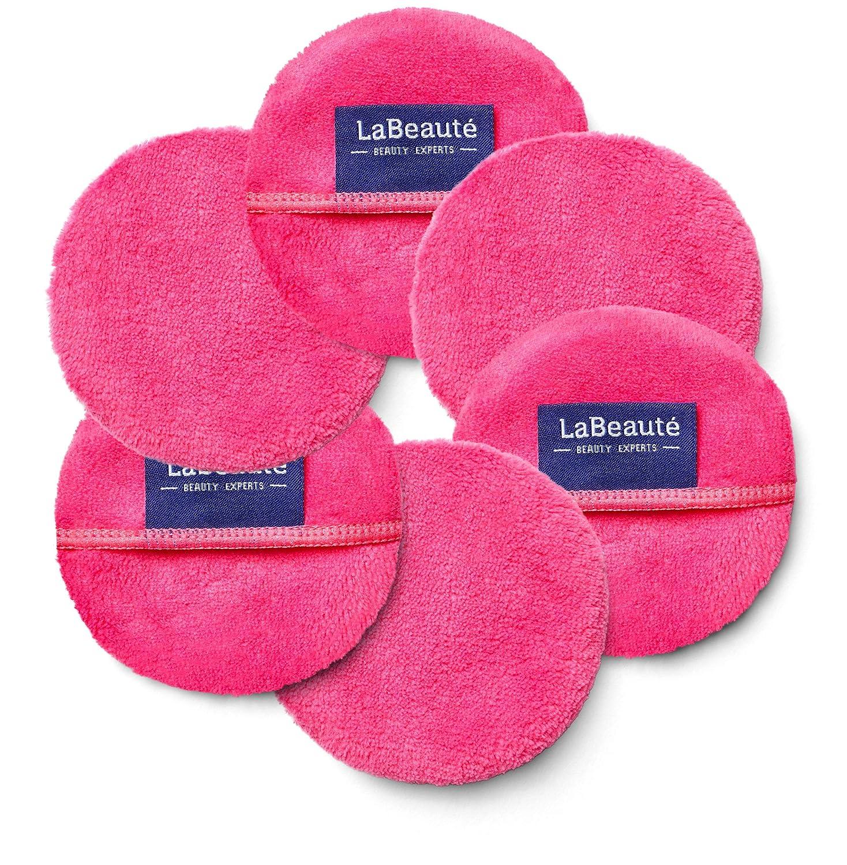 LaBeauté Discos desmaquillantes reutilizables 6 unidades- Limpieza facial y desmaquillante facial - Almohadilla microfibra lavable y reutilizable - ...