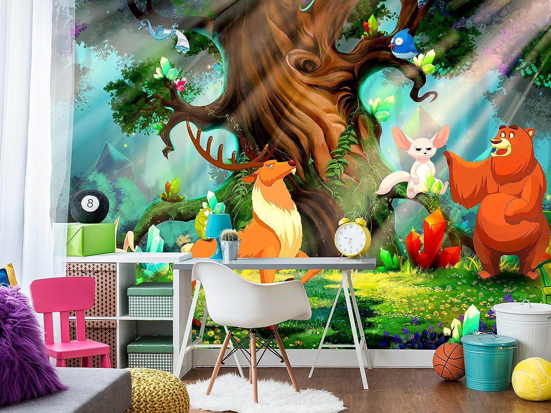 murando Papier peint intiss/é 350x256 cm D/écoration Murale XXL Poster Tableaux Muraux Tapisserie Photo Trompe loeil abstraction nature 10110903-40