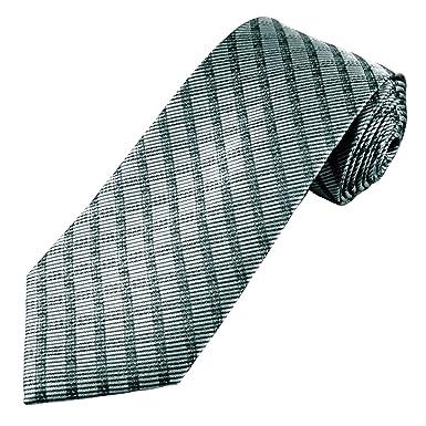 48cf050ac7c0 Silver & Black Striped Men's Tie: Amazon.co.uk: Clothing