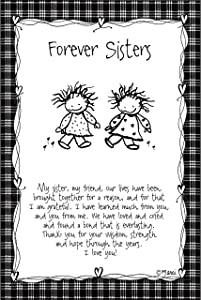 Forever Sisters Wood Plaque - Children of The Inner Light by Marci | Elegant Vertical Frame Wall Art & Tabletop Decoration | Easel & Hanging Hook | Measures 6 inches x 9 inches