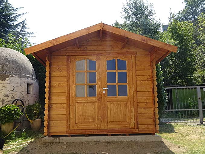 Casita de madera de jardín dekalux 2, 5 x 2, 5: Amazon.es: Jardín