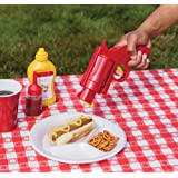 Condiment Dispenser - Funny Ketchup & Mustard Plastic Condiment Bottle
