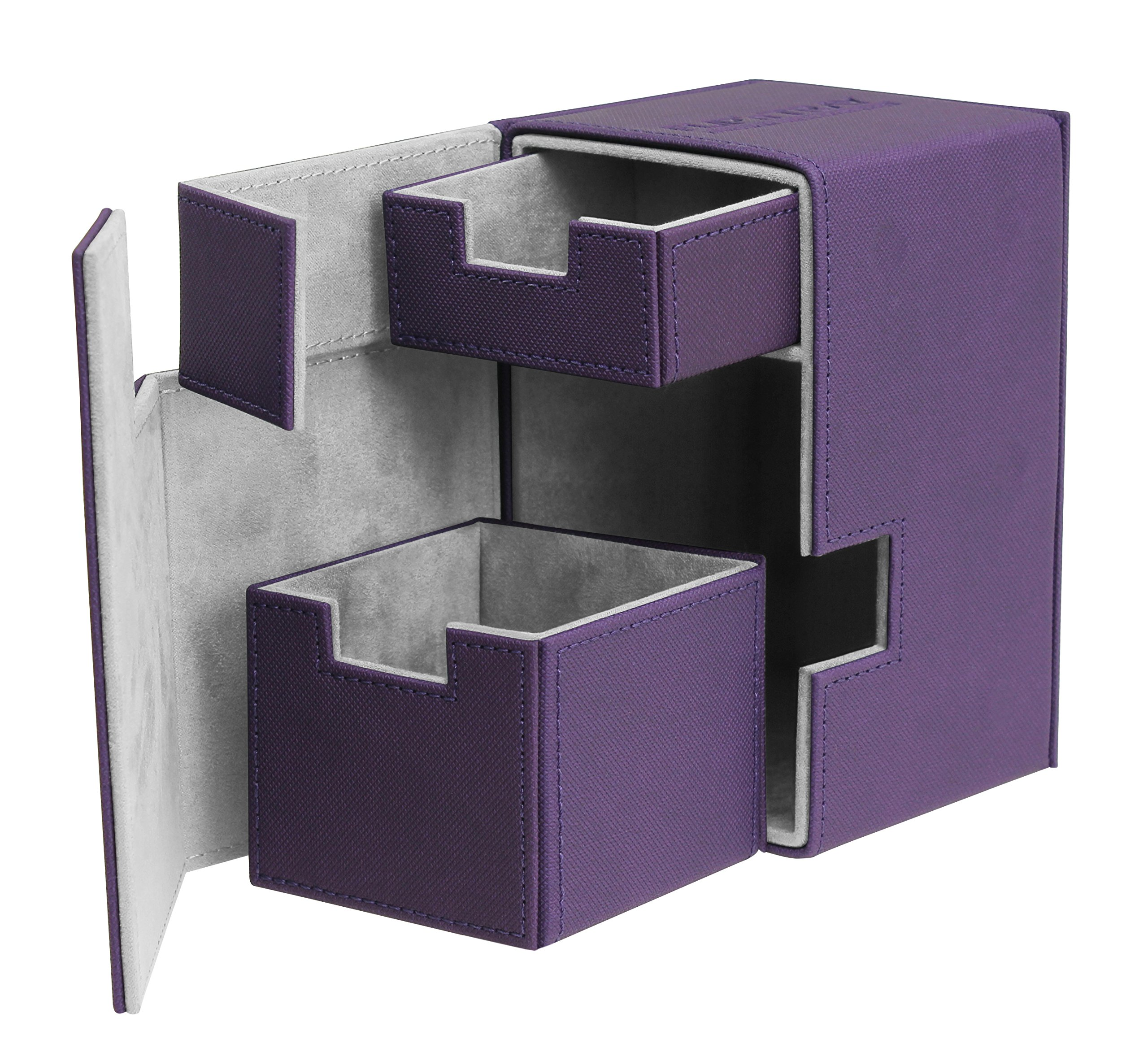 Ultimate Guard 100+ Flip n Tray XenoSkin Deck & Dice Case Protector Purple by Ultimate Guard