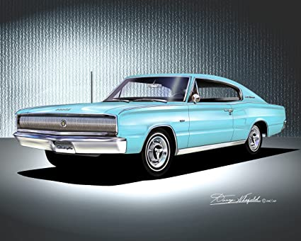Blue Dodge Charger >> Amazon Com 1966 1967 Dodge Charger Light Blue Official