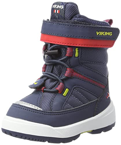 Viking Unisex-Kinder Toasty II Bootsportschuhe, Blau (Navy/Red), 25 EU
